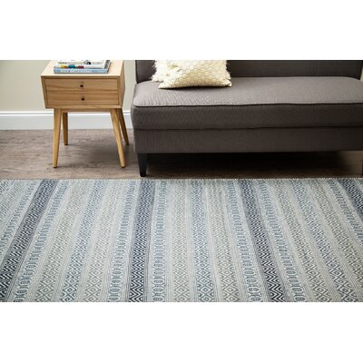 Pickering Hand-Woven Blue/Ivory Area Rug Rug Size: Runner 26 x 8