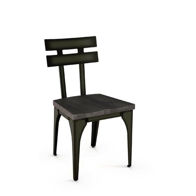 Dearing Solid Wood Dining Chair Finish: Gun Metal Finish/Medium Dark Gray Wood
