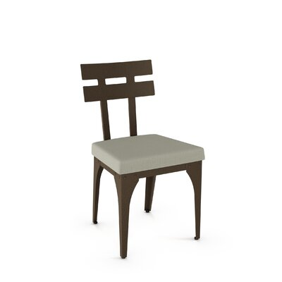 Columbia Side Chair Finish: Hammered Medium Brown/Beige Fabric