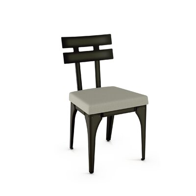 Brunoy Side Chair Finish: Gun Metal Finish/Beige Fabric