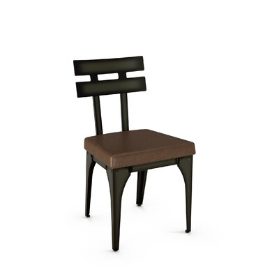 Columbia Side Chair Finish: Gun Metal Finish/Brown Polyurethane