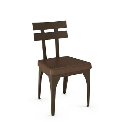 Columbia Side Chair Finish: Hammered Medium Brown/Brown Polyurethane