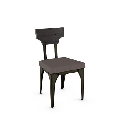 Eton Side Chair Finish: Gun Metal Finish/Dark Gray Wood/Gray Polyester