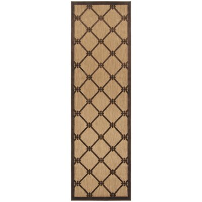 Hartwell Chocolate Indoor/Outdoor Rug Rug Size: Runner 26 x 710