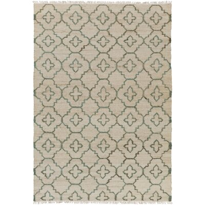 Laceyville Hand-Woven Cream/Sage Area Rug