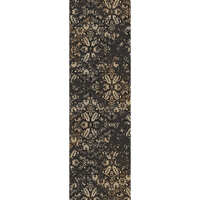Kulpmont Oriental Black Area Rug Rug size: Rectangle 53 x 76