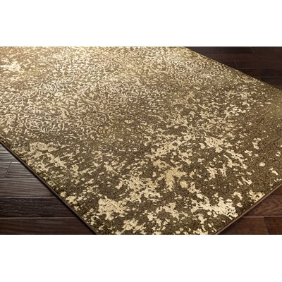 Kulpmont Abstract Dark Brown Area Rug Rug size: Rectangle 79 x 112