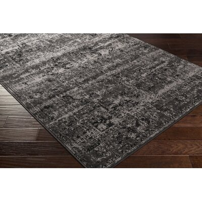 Kulpmont Oriental Black/Light Gray Area Rug Rug size: Rectangle 53 x 76