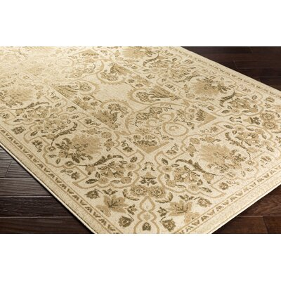 Kulpmont Oriental Beige Area Rug Rug size: Rectangle 53 x 76