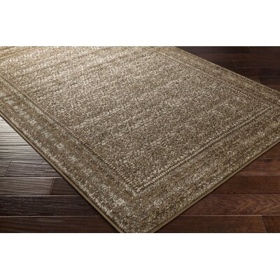 Kulpmont Oriental Dark Brown Area Rug Rug size: Rectangle 53 x 76