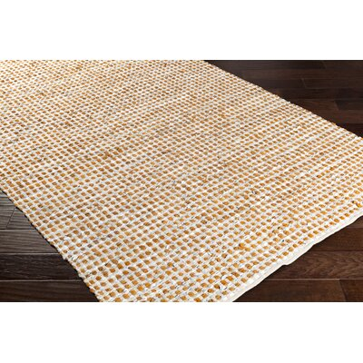 Laflin Hand-Woven Burnt Orange/Pale Blue Area Rug Rug size: 4 x 6