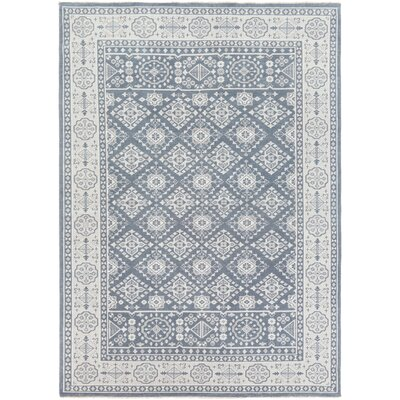 Karlee Hand-Knotted Navy Area Rug Rug size: 2 x 3