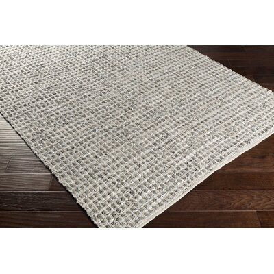 Laflin Hand-Woven Teal Area Rug Rug size: Rectangle 4 x 6