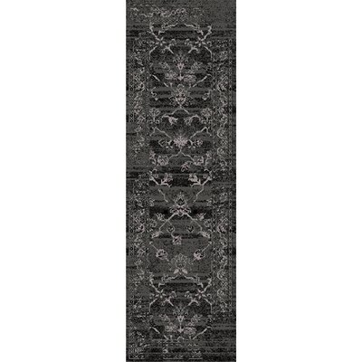 Dunn Black/Light Gray Area Rug Rug size: Runner 22 x 76