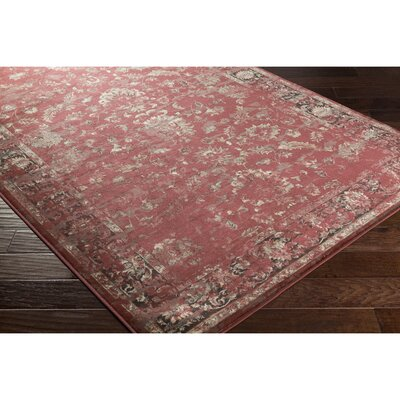 Jeddo Red/Brown Area Rug Rug Size: 53 x 76