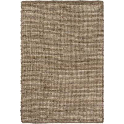 Reese Hand-Woven Brown/Neutral Area Rug Rug Size: 5 x 76