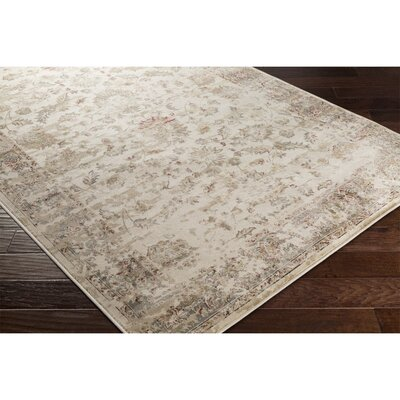 Jeddo Neutral/Gray Area Rug Rug Size: 53 x 76