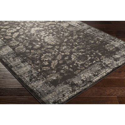 Jeddo Brown/Yellow Area Rug Rug Size: Rectangle 53 x 76