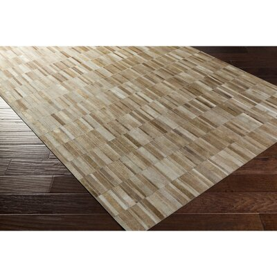 Pomeroy Hand-Crafted Brown/Neutral Area Rug Rug Size: Rectangle 5 x 76