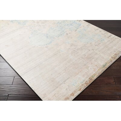 Laporte Hand-Knotted Beige Area Rug Rug Size: Rectangle 6 x 9