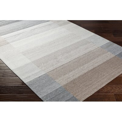 Dree Hand-Woven Gray/Brown Area Rug Rug Size: Rectangle 5 x 76