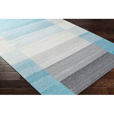 Dree Hand-Woven Gray/Blue Area Rug Rug Size: Rectangle 8 x 10