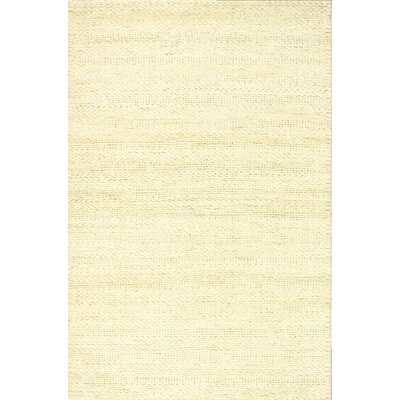 Chessington Hand-Woven Ivory Area Rug Rug Size: 76 x 96