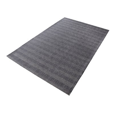 Saket Hand-Woven Charcoal Area Rug Rug Size: Square 6