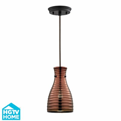Cathina 1-Light Glass Shade Mini Pendant Finish: Oil Rubbed Bronze
