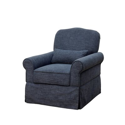 Natalya Armchair Color: Dark Blue