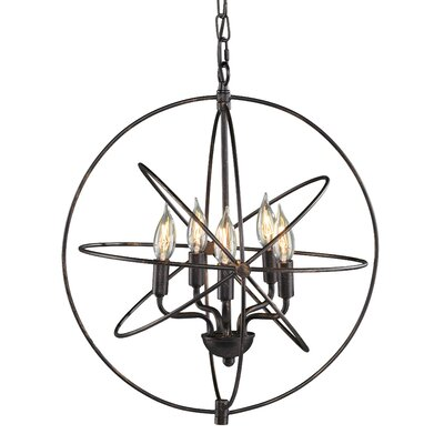 Watt Orb 5-Light Foyer Pendant