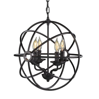 Methuli Fixed 4-Light Foyer Pendant