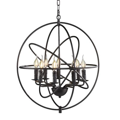 Evan Atomic 8-Light Foyer Pendant
