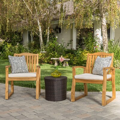 Eslettes 3 Piece Lounge Seating Group with Cushion