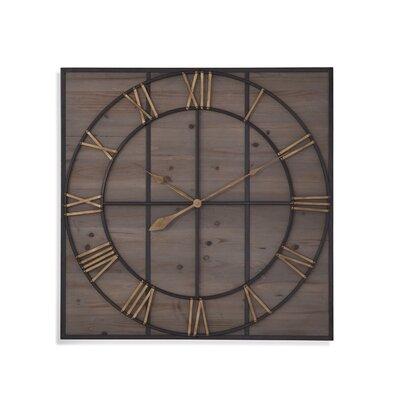 17 Stories Neysa Square Wood Analog Wall Clock
