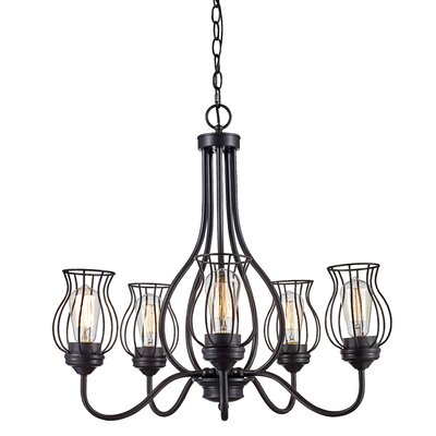 Sage 5-Light Shaded Chandelier