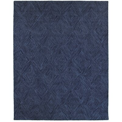 Chantrell Hand-Crafted Blue Area Rug Rug Size: 89 x 119