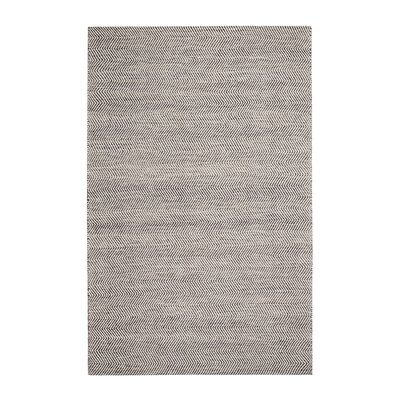 Allister Hand-Woven Gray/Ivory Area Rug Rug Size: 5 x 7