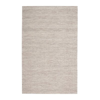 Dominique Hand-Woven Tan/Ivory Area Rug Rug Size: 5 x 7