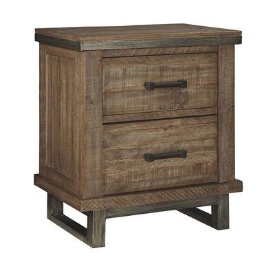 Desjardins 2 Drawer Nightstand