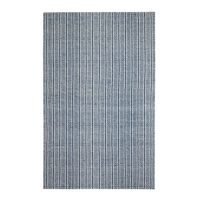 Dina Hand-Woven Blue Area Rug Rug Size: 5 x 7