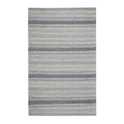 Pickering Hand-Woven Blue/Ivory Area Rug Rug Size: 9 x 12