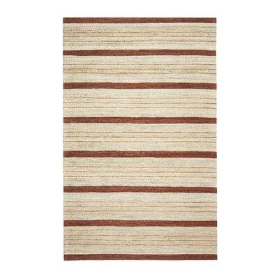 Hamden Hand-Woven Brown/Beige Area Rug Rug Size: 5 x 7
