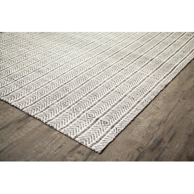 Dions Hand-Woven Gray Area Rug Rug Size: 9 x 12