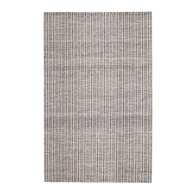 Dions Hand-Woven Gray Area Rug Rug Size: 5 x 7