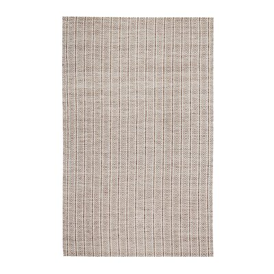 Meriwether Hand-Woven Beige/Tan Area Rug Rug Size: 5 x 7