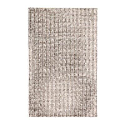 Meriwether Hand-Woven Beige/Tan Area Rug Rug Size: 5 x 7