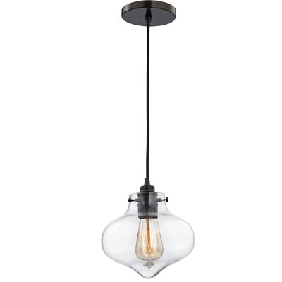 Vrinda 1-Light Schoolhouse Pendant