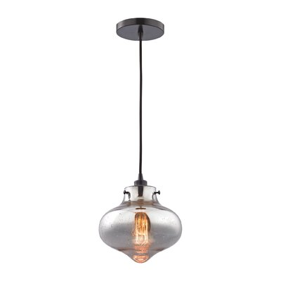 Betsy 1-Light Glass Shade Schoolhouse Pendant