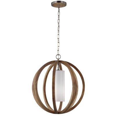 Flavien 1-Light Globe Pendant Size: 28.5 H x 26 W x 26 D